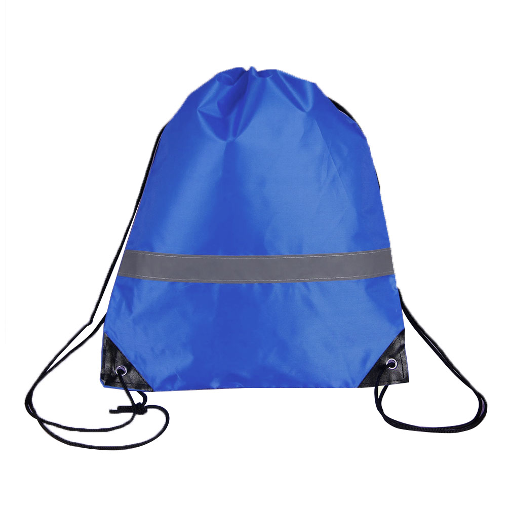 10 Pcs Outdoor Students Drawstring Bags Reflective Strap Gym Pouch Sport Walking Travel Large Capacity School Camping Storage