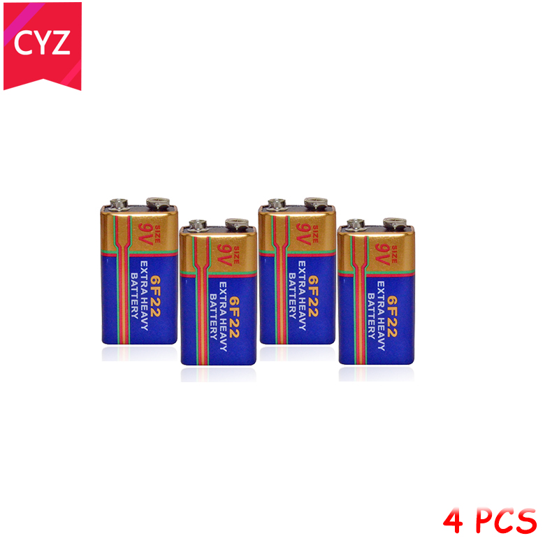 Buy NEW 4pcs 4x 6F22 New Alkaline Battery 9V Laminated