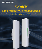 2pcs AR9344 Outdoor WIFI Router WIFI Repeater 300Mbps 5.8Ghz 5 10KM Router CPE AP Client Repeater 2*14dbi Wifi Antenna Router AP