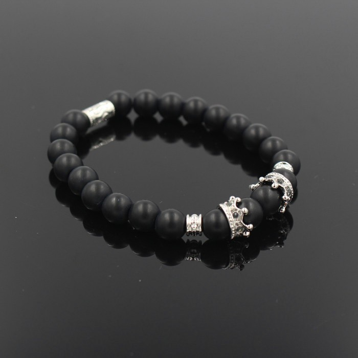 silver-imperial-crown-with-natural-stone-black-bracelet-3