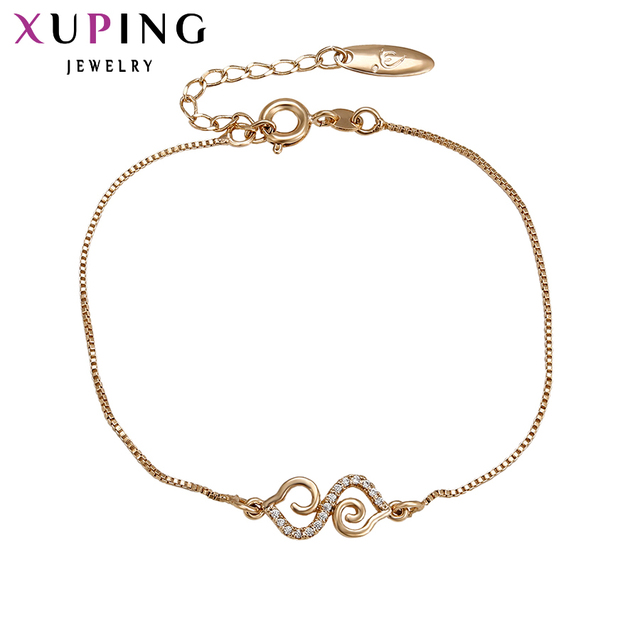 75010f19f3501 US $3.45 48% OFF Xuping Fashion Bracelet New Arrival Elegant Women  Friendship Bracelets Gold Color Lower Price Top Quality Jewelry 74046-in  Chain & ...