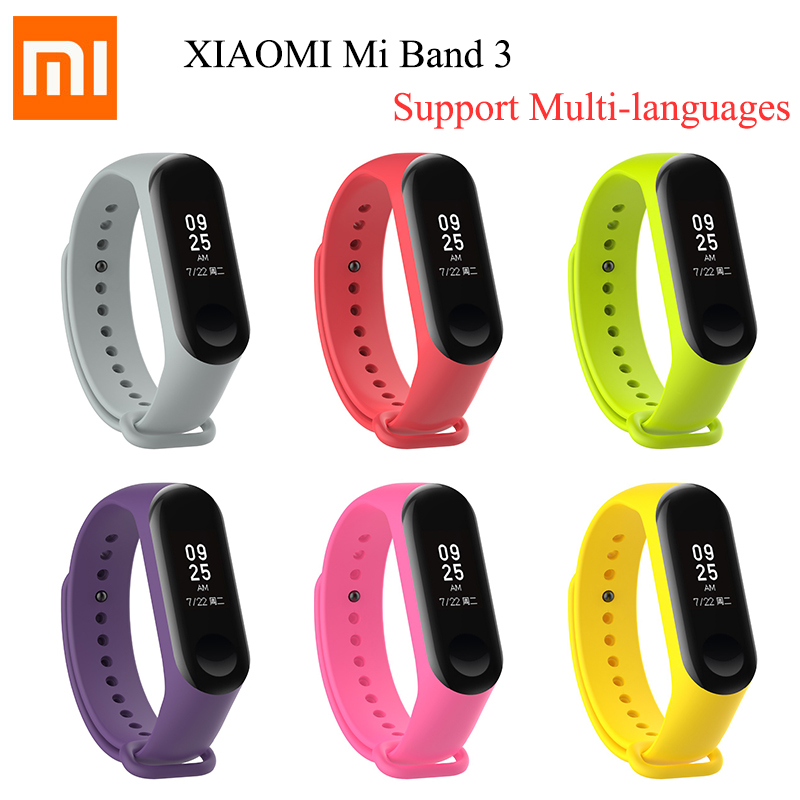 Original Xiaomi Mi Band 3 Global Version Band3 Smart Wristband Bracelet 0.78 OLED Touchscreen Reject-Call Pulse Heart Rate цена