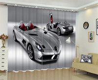 2017 New Curtains for Windows Drapes European Modern Luxury car 3D shade curtain for living room bedroom