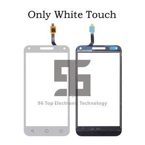 Image 3 - AA + جودة LCD 5.0 ل الكاتيل بلمسة واحدة U5 3 جرام 4047 4047D شاشة الكريستال السائل محول الأرقام بشاشة تعمل بلمس استبدال أسود/أبيض