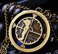Buena calidad del precio bajo de bronce de época Detective Conan cuarzo reloj de bolsillo de anime collar del colgante del reloj kids mejor regalo