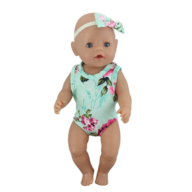 1pcs Fashion Swim Suit Fit For Baby Reborn Dolls 43cm Doll Clothes 4