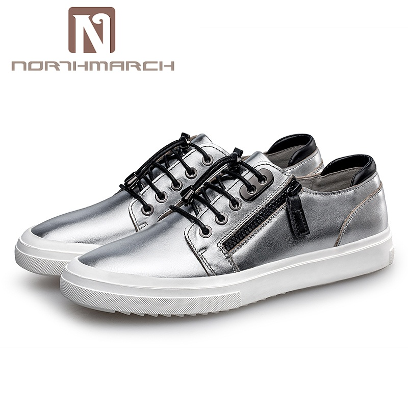 NORTHMARCH Luxury Brand Men Casual Shoes Fashion Men Genuine Leather Shoes Breathable Designer Shoes Men Flats Chaussures grimentin fashion 2016 high top braid men casual shoes genuine leather designer luxury brand men shoe flats for leisure business