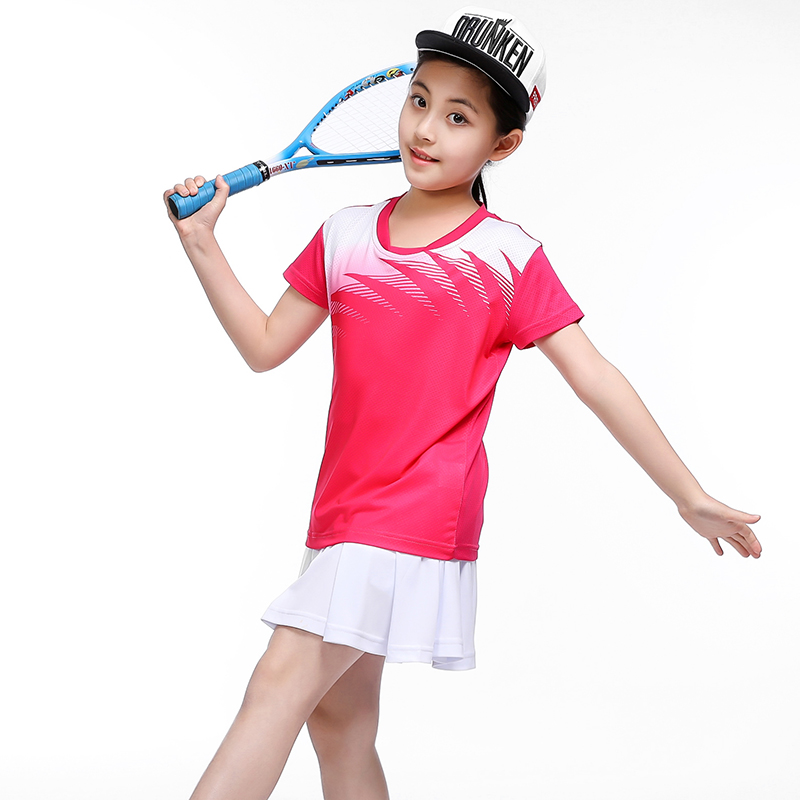 Free print name Children Badminton clothes Girl tracksuit , Sports children table tennis clothes girl ,Tennis skirt clothes 5063