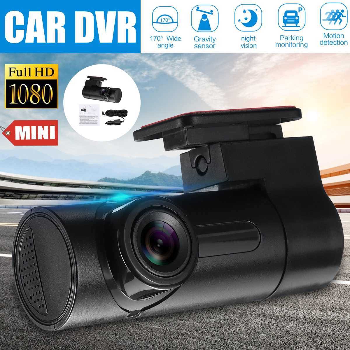 Car DVR Recorder Dash-Cam Digital G-Sensor Night-Vision 170-Degree 1080P Registrar Wide-Angle