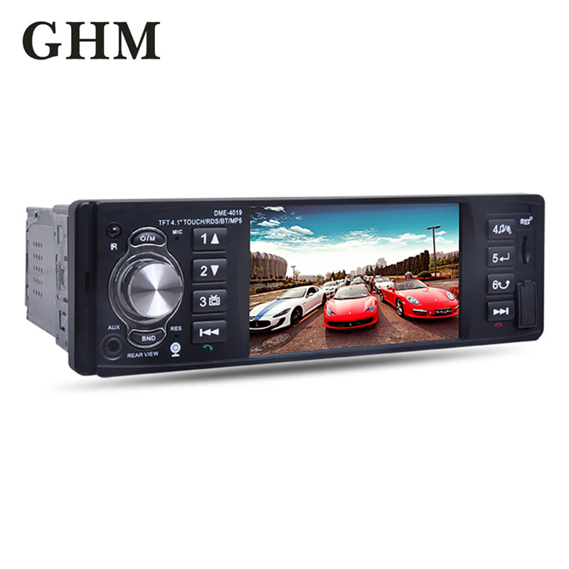 Car Radio 1 Din Android Fm Hd Multimedia Radio Car Auto Audio Stereo Bluetooth Autoradio Support Rear View Camera Universal image