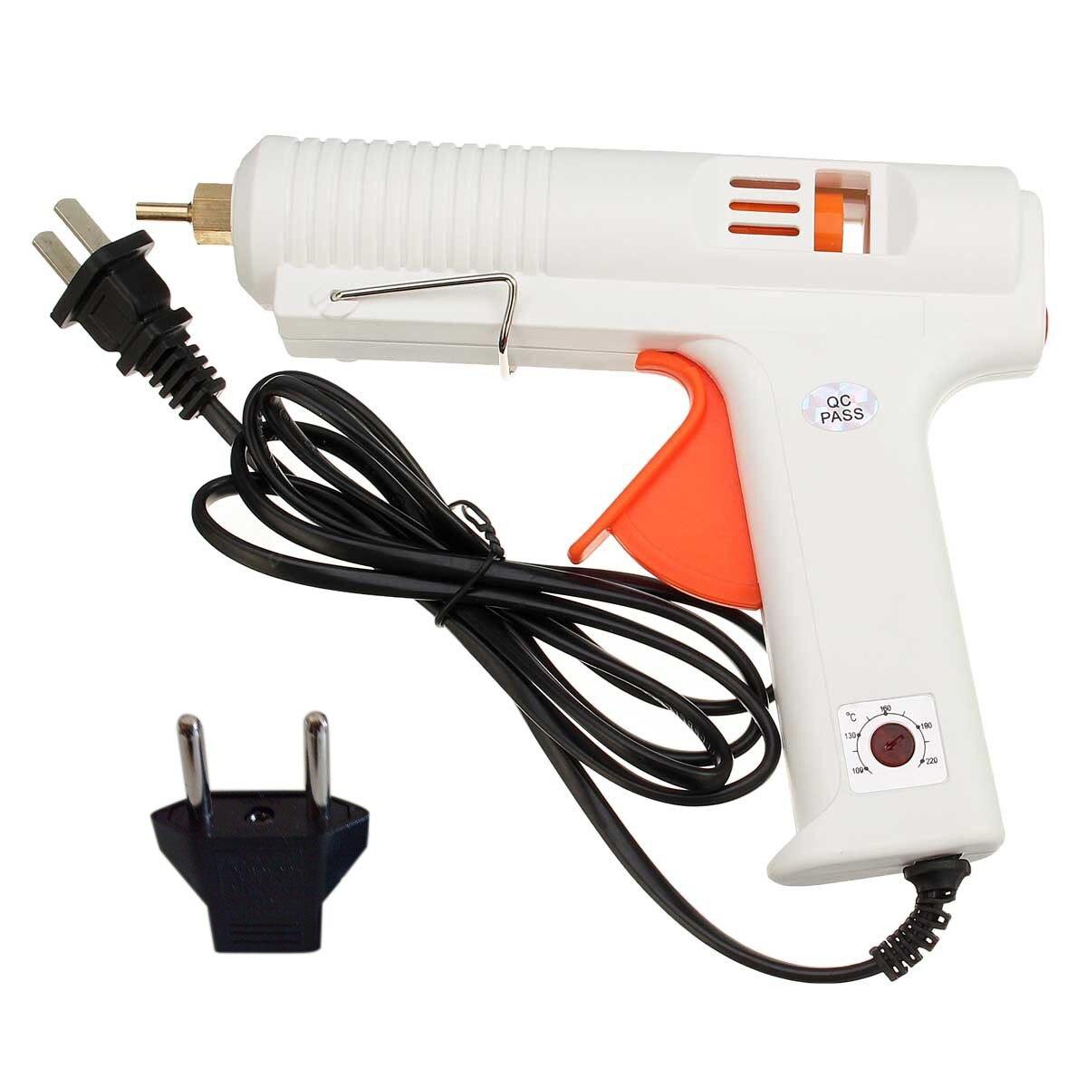 120 W 100-240 V Blanc Chauffage Hot Melt Pistolet À Colle Électrique Chaleur Température Outil Pour Diamètre 10.8-11.8mm Bâtons
