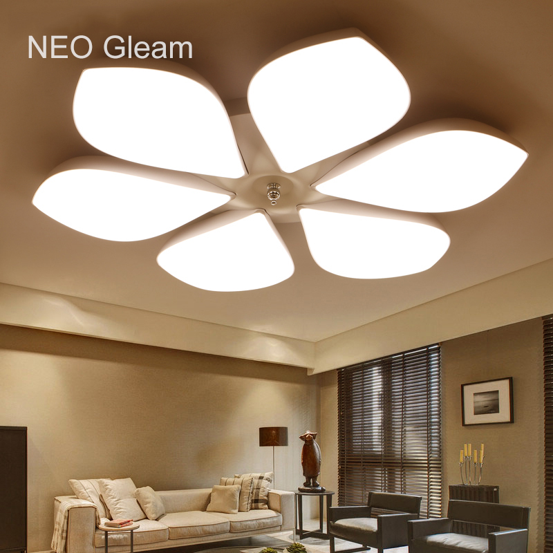 NEO Gleam Remote Control Modern living room bedroom modern led ceiling lights Dimming AC85-265V Home Led ceiling lamp Fixtures neo gleam rectangle modern led ceiling chandelier lights for living room bedroom ac85 265v square ceiling chandelier fixtures