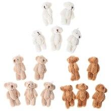 5 uds. De osos pequeños Kawaii, juguetes de peluche suaves, muñecas de terciopelo con perlas, regalos, Mini oso de peluche MAY7 AXY