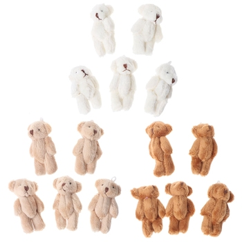 5PCS Kawaii Small Bears Plush Soft Toys Pearl Velvet Dolls Gifts Mini Teddy Bear MAY7-AXY Uncategorized Decoration Stuffed & Plush Toys Toys