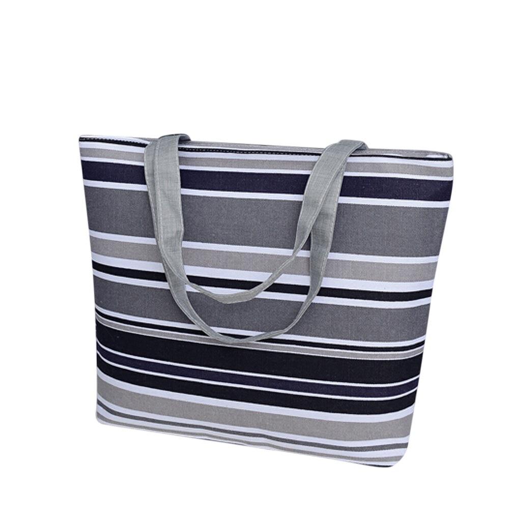 Hot 2018 Beach Bag Women Summer Female Handbags Shoulder Bags Classical Canvas Tote Bag School Shopping Women Handbags F318