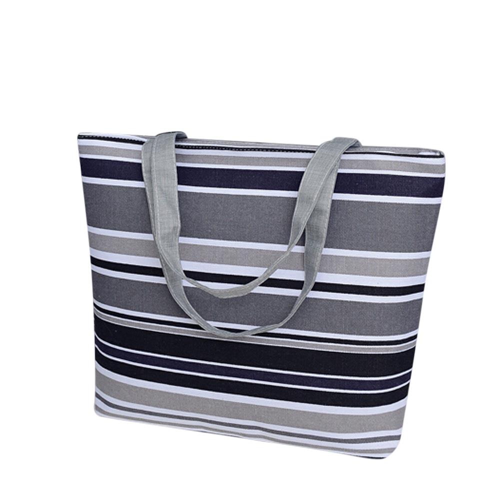 Beach Bag Summer Female Handbags Shoulder Bags Classical Canvas Tote Bag School Shopping Handbags #810