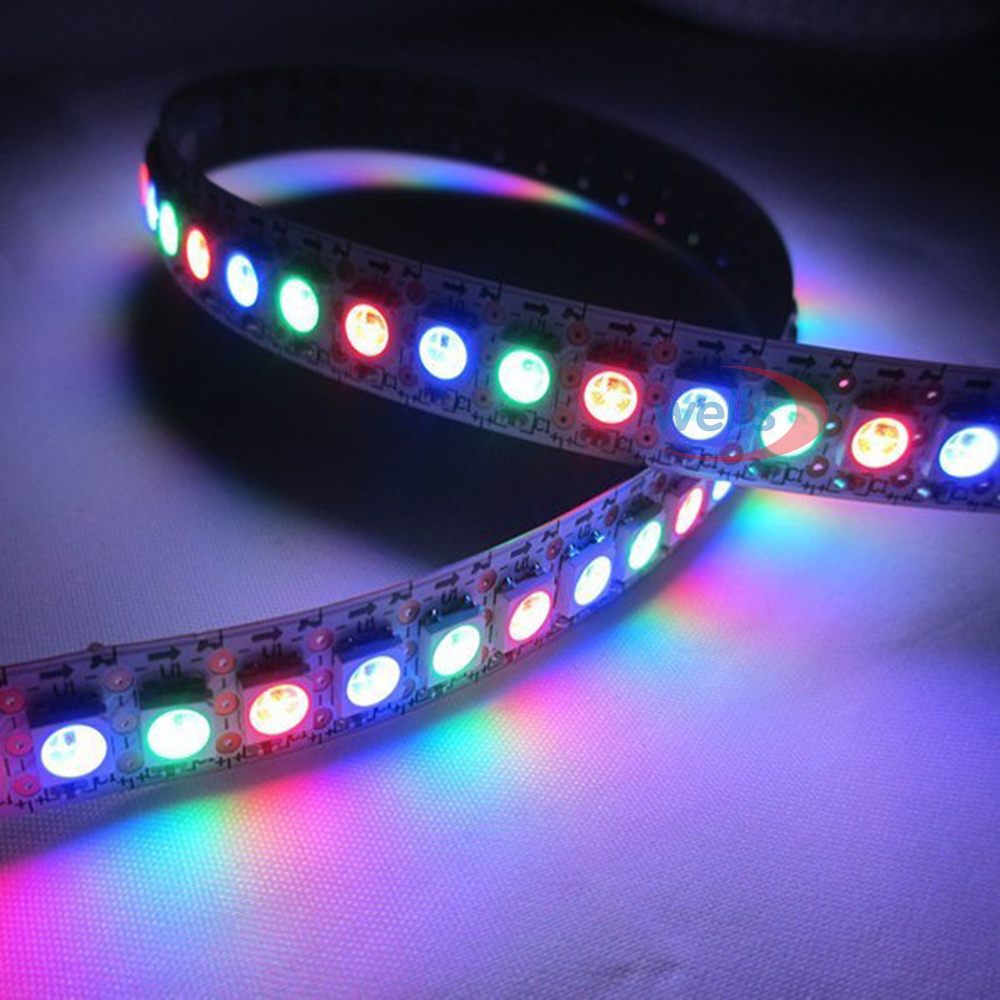0 5m 72leds 144 LEDs M WS2812B Chip White Black PCB WS2811 IC Digital 5050 RGB LED Strip Light 5V NP in LED Strips from Lights Lighting