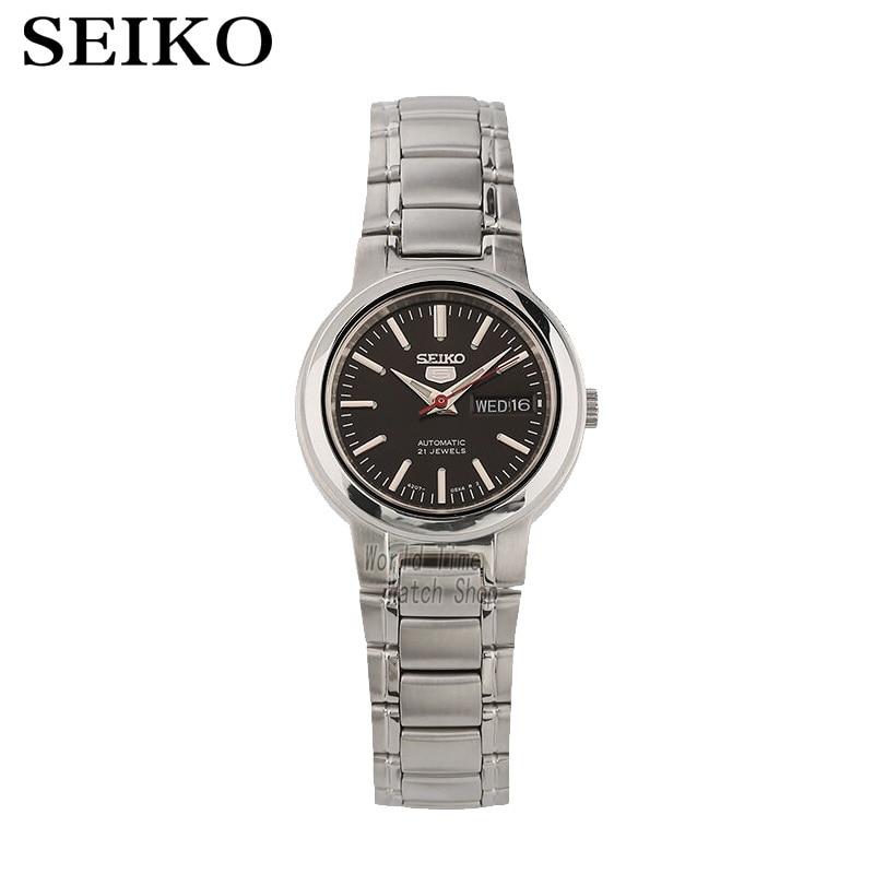 세이코 여성 시계 5 자동 시계 여성 브랜드 럭셔리 방수 숙녀 선물 시계 시계 reloj mujer montre femme Bayan Kol Saati syme43k1 syme39k1-에서기계식 시계부터 시계 의  그룹 1