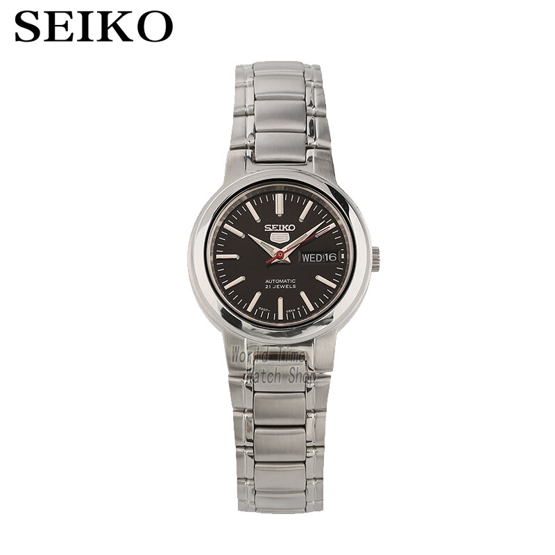 лучшая цена SEIKO Watch shield 5 simple fashion automatic mechanical watch 21 gem female watch SYME43K1 SYME39K1