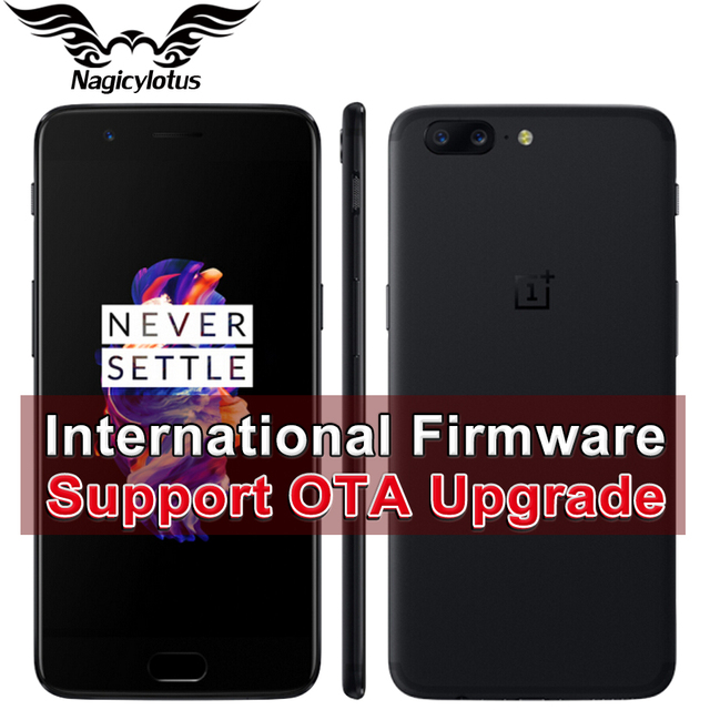 "Международная прошивка OnePlus 5 6 ГБ 64 ГБ Смартфон Snapdragon 835 Octa core LTE 4 г Dual SIM 5.5"" 20.0MP 16.0MP отпечатков пальцев"
