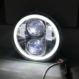 "Image 2 - 1X أسود كروم 5.75 ""HID LED المصباح عالية/منخفضة شعاع 5 3/4"" الجبهة القيادة رئيس مصابيح إنارة رأسية ل 5.75 بوصة المصابيح الأمامية العارض"