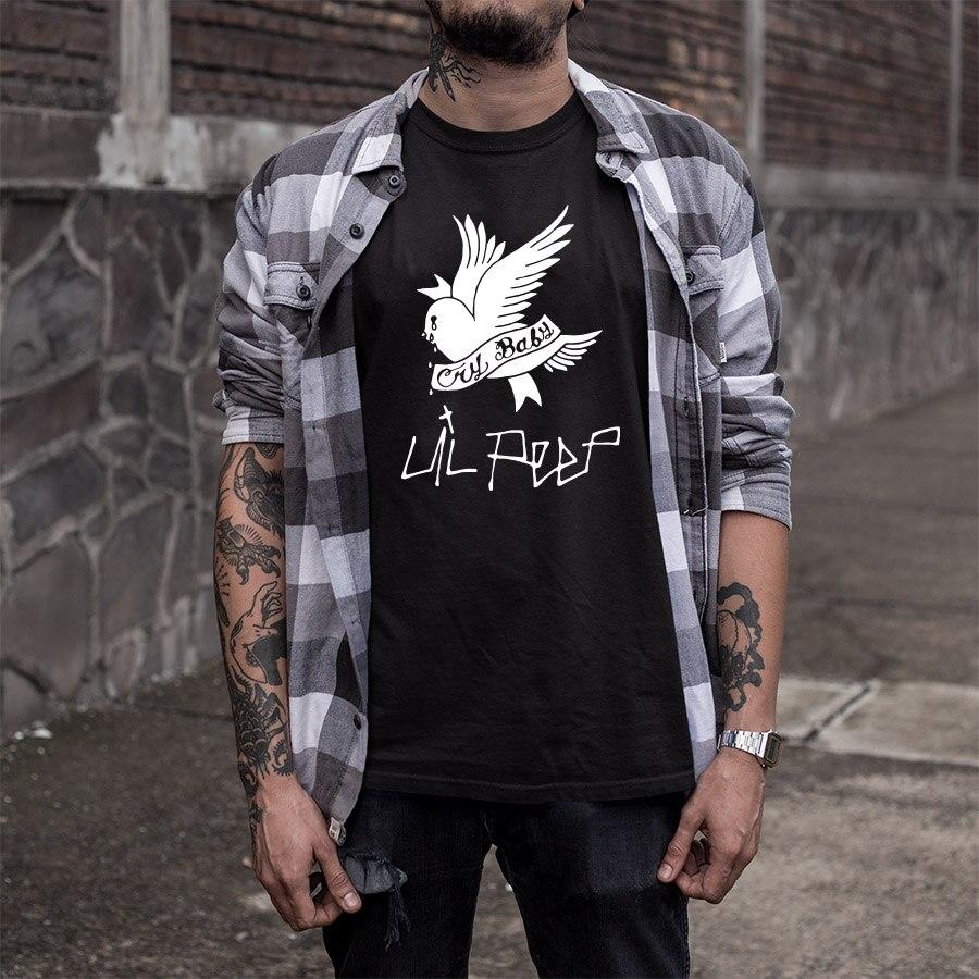 Streetwear T Shirt Men Cotton Bird Anime T-shirt Hot Rapper Cry Baby Hipster Tshirt Hip Hop Tee Tops EU Size