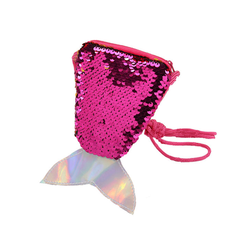 Fashion Hot Mermaid Tail Coin Purse and Wallet Ladies Bags Sling Card Holder Money Change Purse Pouch Party Decoration Gift(China)