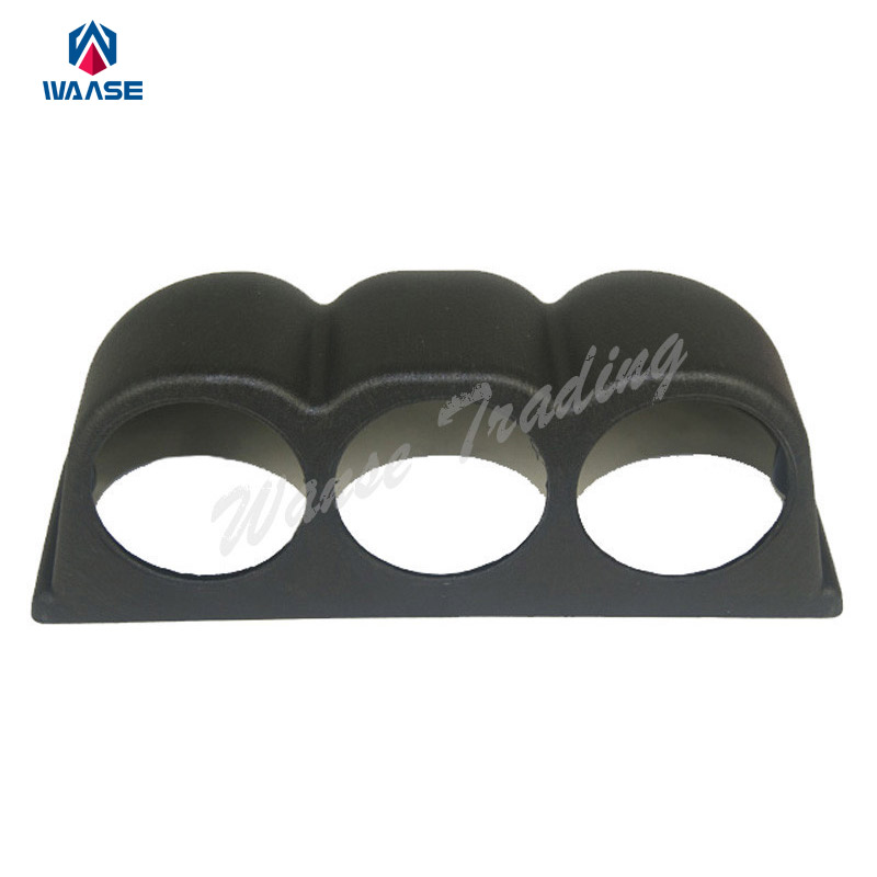 Universal Racing 60mm 3 Hole Pod Dash Three Triple Oil Boost Temp Gauge Meter Panel Mount Holder Bracket Cup Case Cover Black