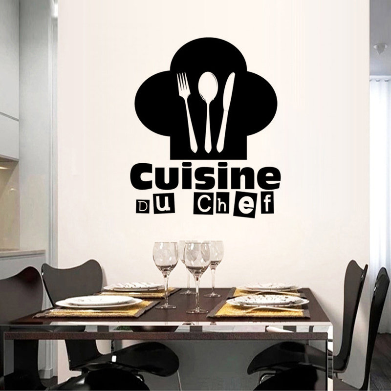 Chef Kitchen Restaurant Rules DIY Wall Stickers Home Decor