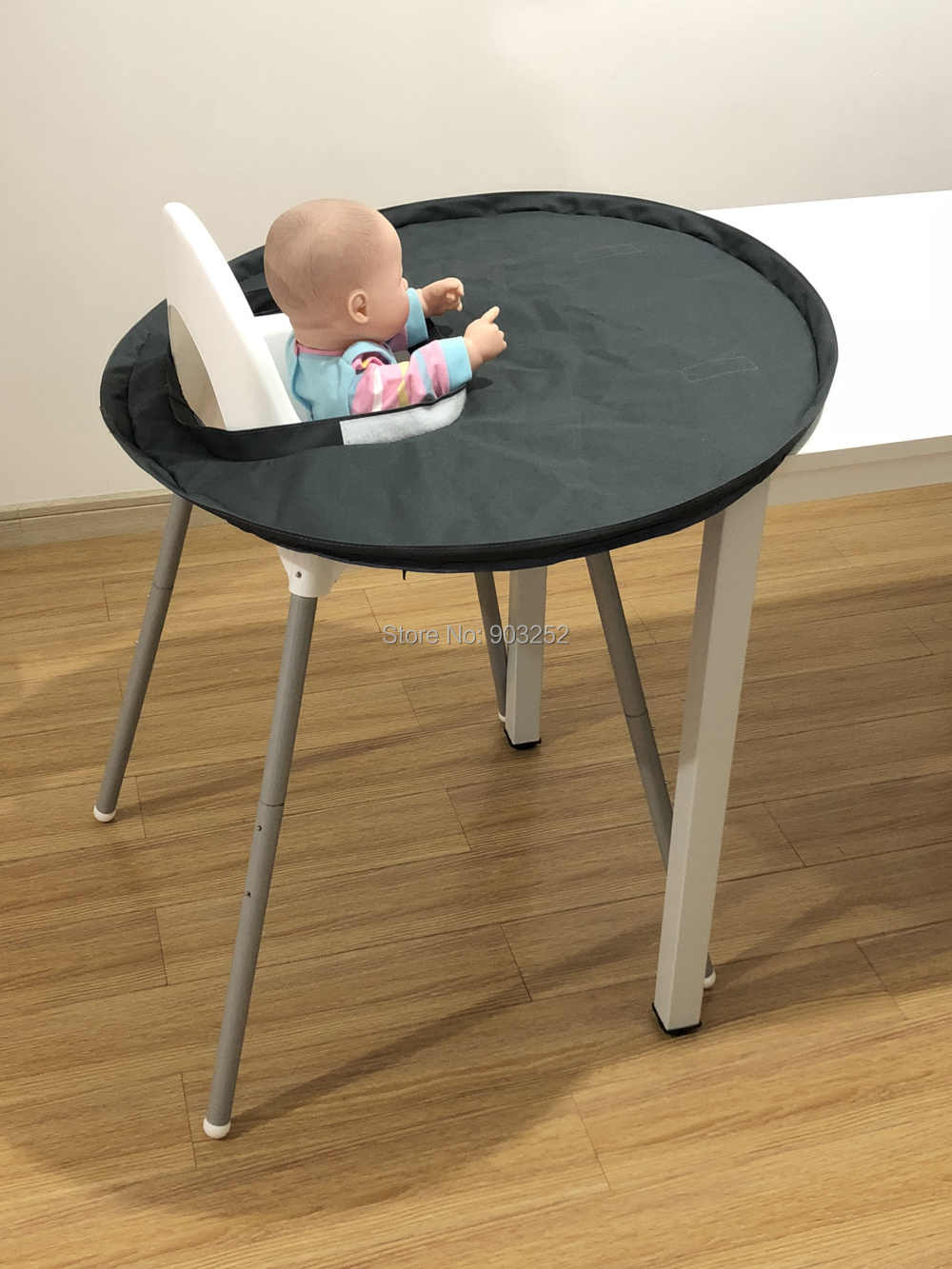 Restaurant High Chair Cover Quality Restaurant And Home Baby Feeding Saucer High Chair Cover Highchair Cover Germ Prevents Food And Toys Falling To Floor