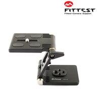 FITTEST Z Flex Tilt Head Folding QR Plate Camera Ball Head Stand Max Load 3.5kg for DSLR Tripod Slider Rail Stabilizer