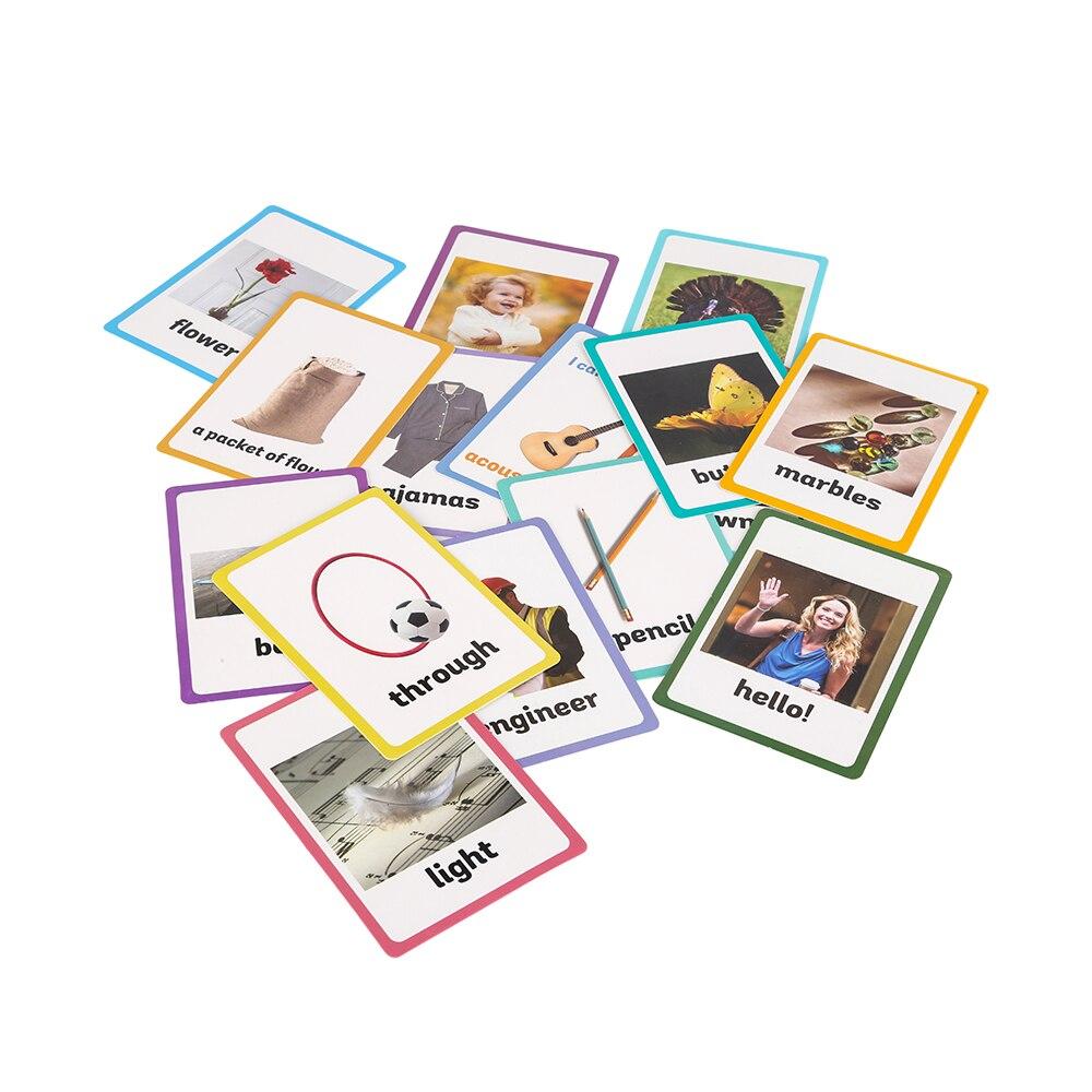 26 catégories 760 pièces apprendre l'anglais mot carte Flashcards Juguetes Educativos enfants jouets éducatifs pour enfants début d'apprentissage - 3