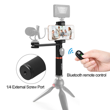 ViewFlex VF-H4 Smartphone Video Rig Hand Grip Handle Stabilizer Kit with Remote Control/ Hot Shoe Mount for iPhone X 8 7 6s Plus 1