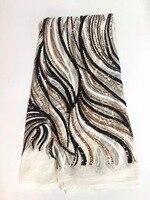 تيل اللون الفرنسية صافي الأفريقية نسيج الدانتيل مع الراين الأحجار تول جميل جبر أقمشة الدانتيل المواد اللباس VS-J5433