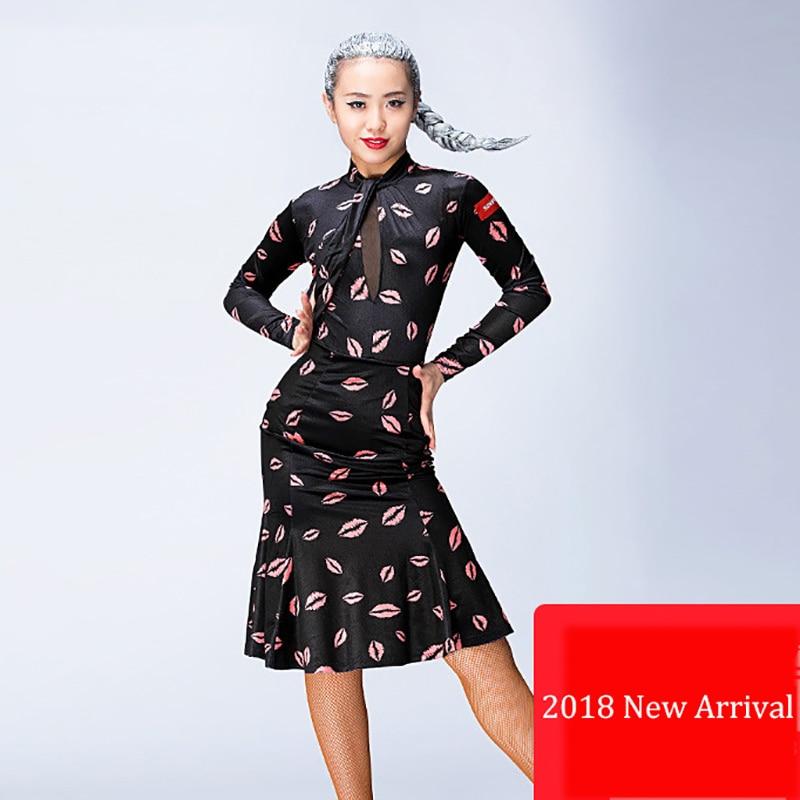 High Quality Latin Dance Dress For Ladies Fashion Black Women Ballroom Tango Feminine Samba Competitive Rumba Costumes I204