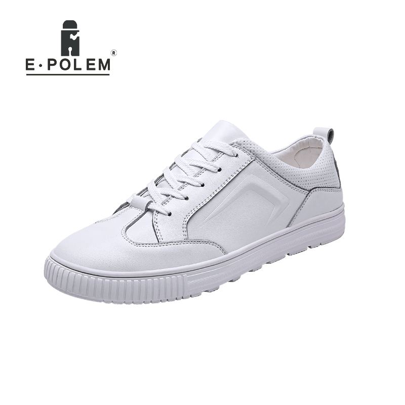 Lace Masculinos up De Dos Confortáveis Básicos Sapatos Do Genuíno Respirável Couro Placa Homens Casuais Patim 0TwnO