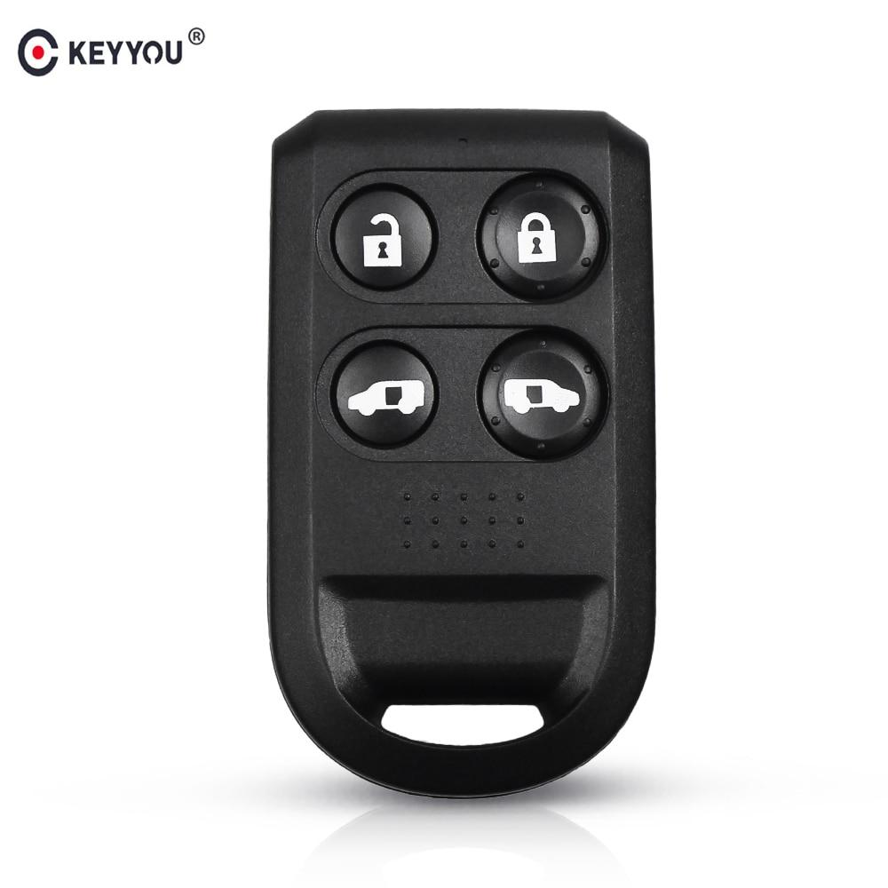 KEYYOU Remote Car Key Shell Fob For Honda Odyssey 2005-2010 4 Button Car Remote Key Fob Case Car-styling