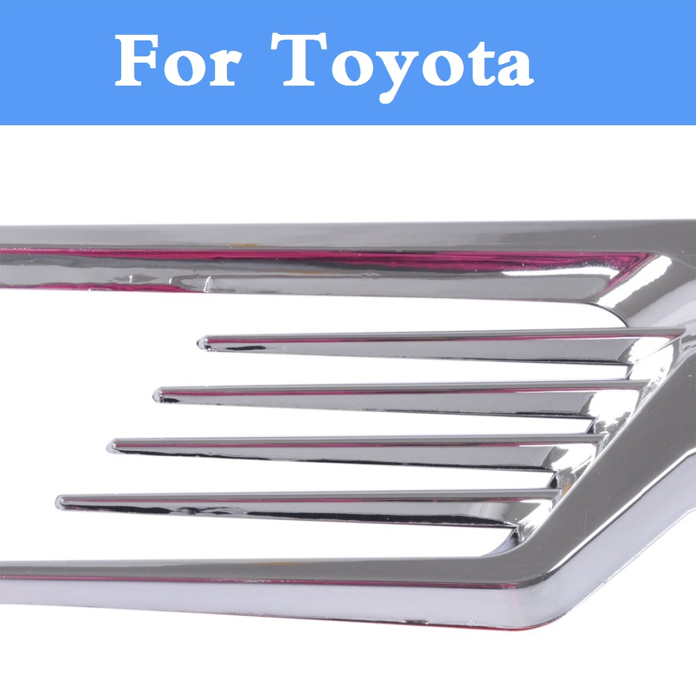 2017 Chromed ABS Plastic Car Side Air Vent Fender Cover Sticker For Toyota Camry Solara Celica Celsior Century Corolla Fielder special car trunk mats for toyota all models corolla camry rav4 auris prius yalis avensis 2014 accessories car styling auto
