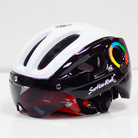 Scohiro Bicycle Helmet 3 lens visor sunglasses MTB Mountain Road Bike Helmet casque Cascos Ciclismo Cycling helmet Adults