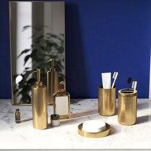 Набор аксессуаров для ванной комнаты, 304 дозатор для мыла из нержавеющей стали, держатель для зубной щетки, чашка для подвязки, золотой комплект для ванной комнаты