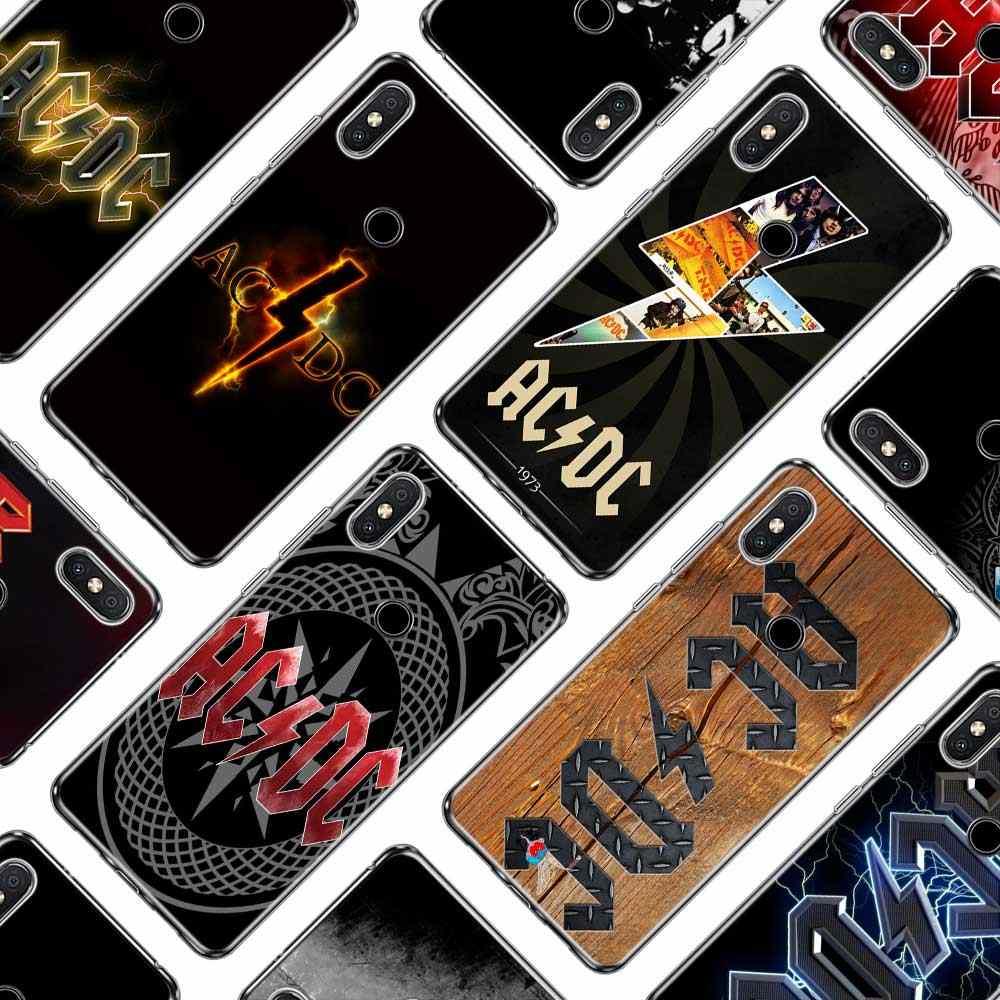 실리콘 전화 케이스 xiaomi a1 a2 redmi note 4 4x9 8 7 6 6a 5 5x 6x s2 pro lite plus 커버 용 ac dc 포스터 음악