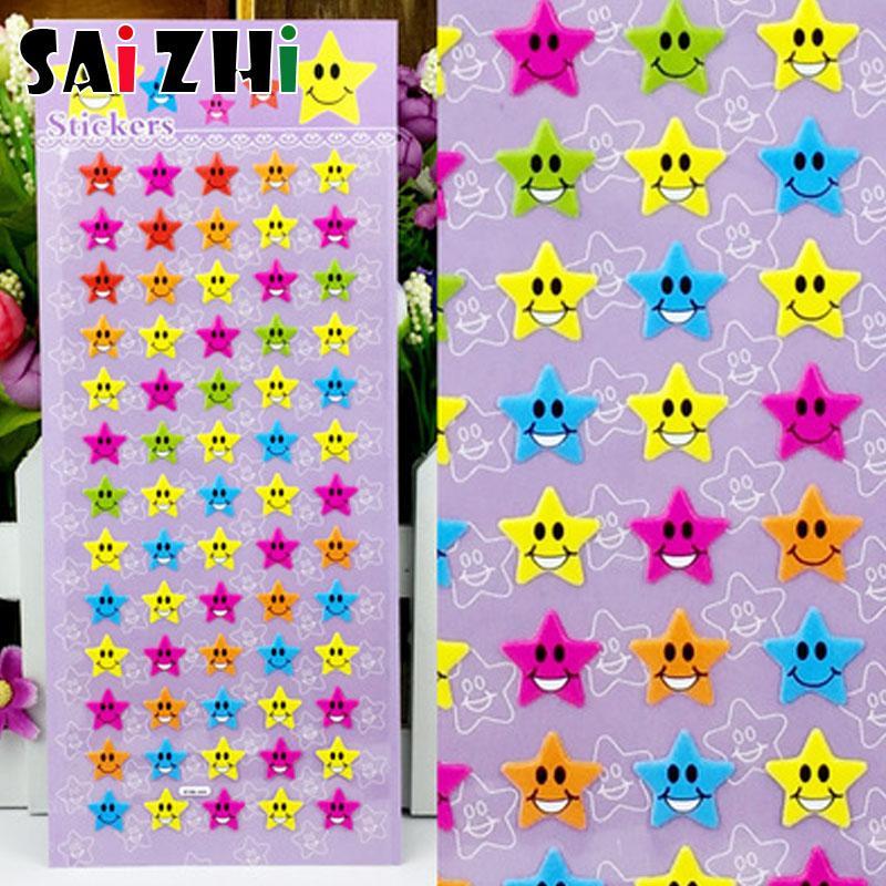 Saizhi 1 pcs 3D Puffy Bubble Mixed Star Cartoon Cute Stickers For Notebook Skateboard Bicycle Laptop Children Boy Girl Toy in Stickers from Toys Hobbies