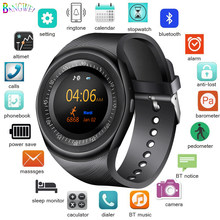 LIGE 2019 New Smart Watch Men LED Color Touch Screen Sport Pedometer Bluetooth Smart Watch Support SIM TF Relogio inteligente(China)
