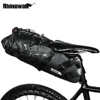 RHINOWALK 10L Bicycle Bag Waterproof Bike Saddle Bag Road Mountain Cycling Tail Rear Bag Luggage Pannier Pouch Bike Accessories
