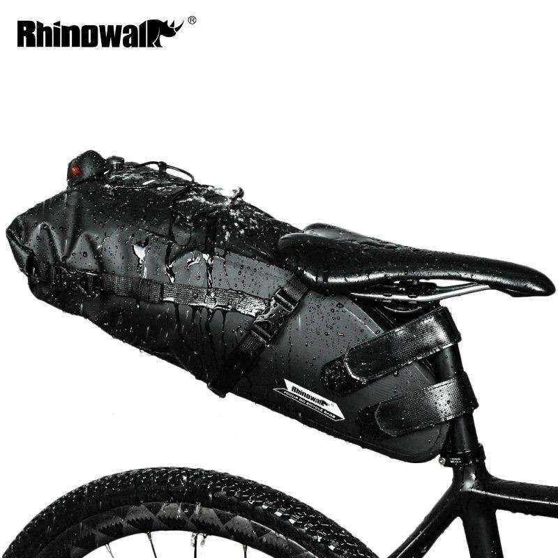 RHINOWALK 自転車バッグ防水自転車サドルバッグ山道サイクリングテールリアバッグ荷物パニエポーチバイクアクセサリー 12L  グループ上の スポーツ & エンターテイメント からの 自転車用バッグ & パニア の中 1
