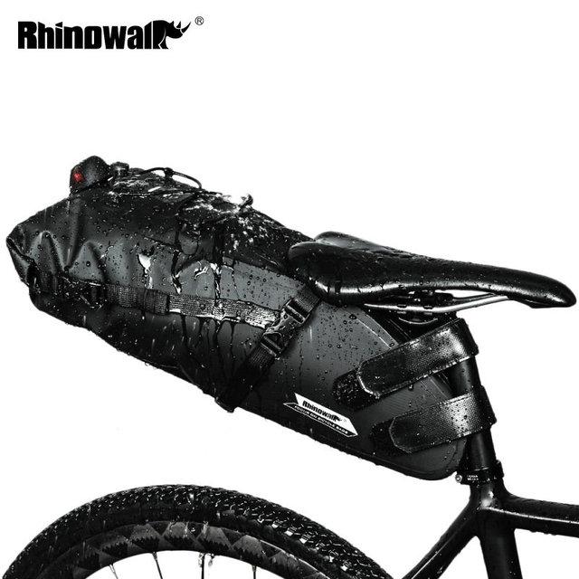 RHINOWALK 자전거 가방 방수 자전거 안장 가방 마운틴로드 사이클링 테일 리어 가방화물 파니에 파우치 자전거 액세서리 12L