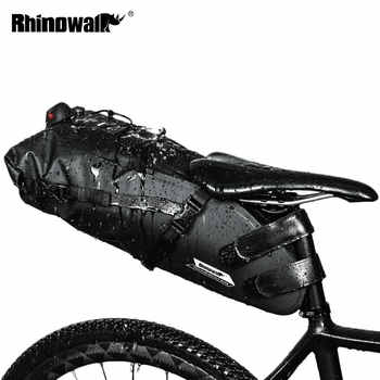 RHINOWALK Bicycle Bag Waterproof Bike Saddle Bag Mountain Road Cycling Tail Rear Bag Luggage Pannier Pouch Bike Accessories 12L - DISCOUNT ITEM  50% OFF Sports & Entertainment