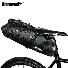 RHINOWALK אופניים עמיד למים תיק אופני הרי תיק אוכף כביש רכיבה על אופניים זנב אחורי תיק מטען טנא פאוץ אופני אביזרי 12L