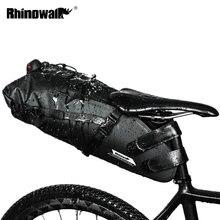 Rhowalk دراجة حقيبة مقعد دراجة مقاوم للماء حقيبة الطريق الجبلية الدراجات الذيل الخلفي حقيبة الأمتعة السلة الحقيبة الدراجة اكسسوارات 12L