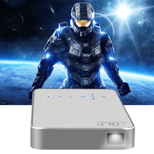 Mini Portable Video Projectors Android 4.4 Touch Screen Interaction  LED DLP Projector 1080P Wifi HDMI Home Projector